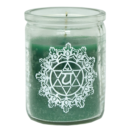 Heart Chakra 50 Hour Candle