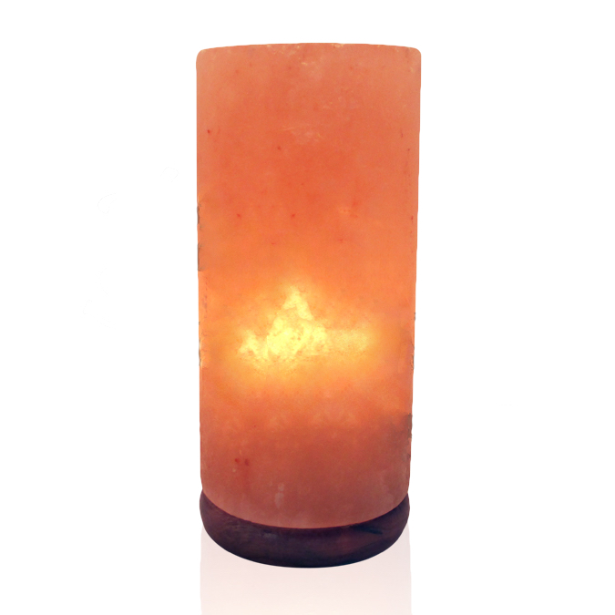 Himalayan Salt Lamp, Crafted - Cylinder