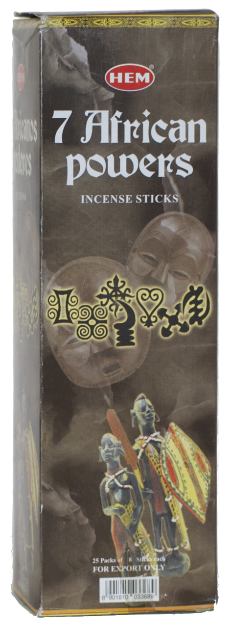 7 African Powers Incense Sticks Sq Pk 25 Boxes Of 8