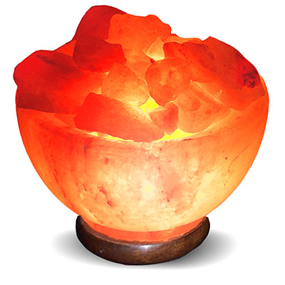 Himalayan Salt Lamp, Crafted - Abundance Bowl