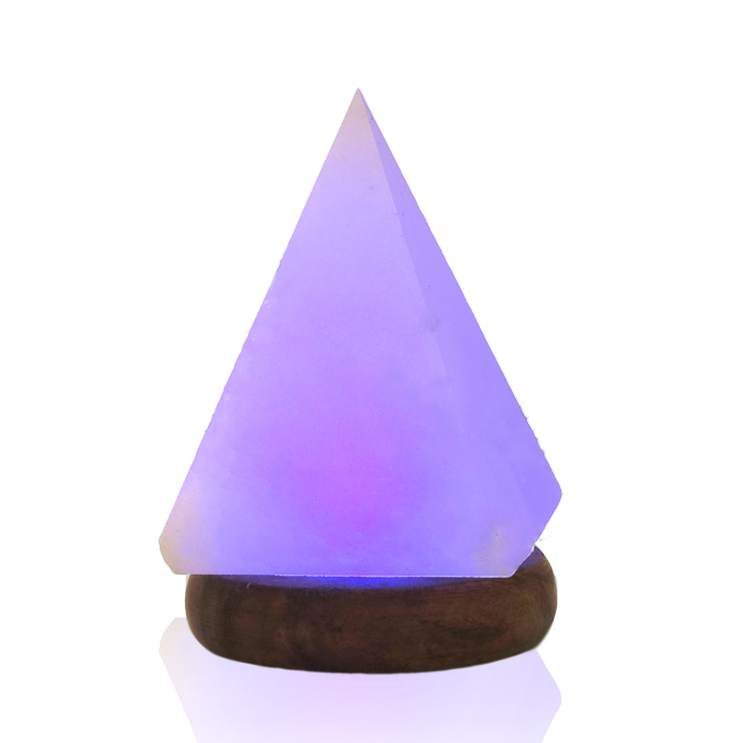 Salt Lamps Blue : Himalayan Salt Lamp, USB - Pyramid