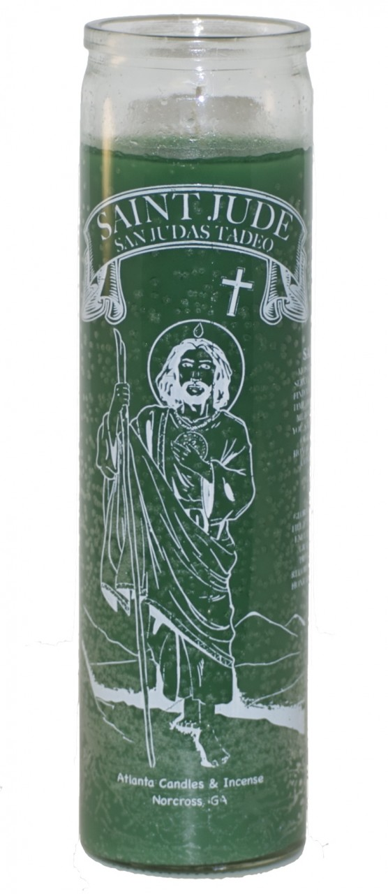 St Jude 7 Day Candle Green