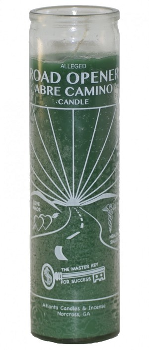 Road Opener 7 Day Candle Green