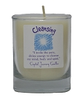 Cleansing Soy Filled Glass Votive Candle