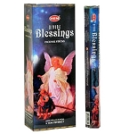Divine Blessing Incense Sticks, Hex Pack - 6 Boxes of 20 Sticks (120 Sticks)