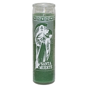 Santa Muerte (Holy Death) 7 Day Candle, Green