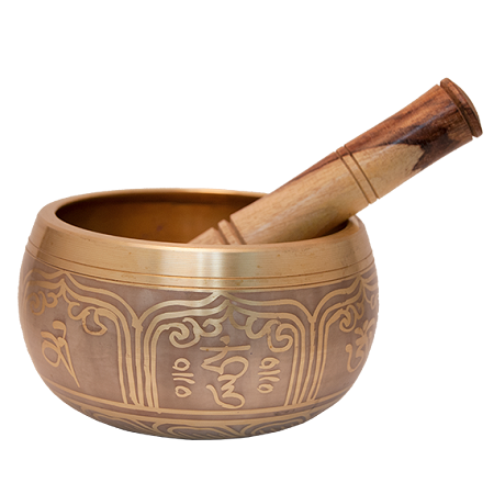 Gold Tibetan Singing Bowl Machined 4 Quot D