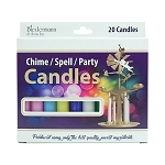 Asst. Chime Candles, Box/20 (10 Colors)