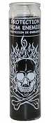 Protection From Enemies 7 Day Candle, Black