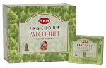 Precious Patchouli Incense Cones, HEM, Box/12