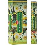 Camomile Incense Sticks, Hex Pack - 6 Boxes of 20 Sticks (120 Sticks)