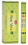 Aloe Vera Incense Sticks, Hex Pack - 6 Boxes of 20 Sticks (120 Sticks)