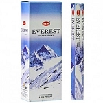 Everest Incense Sticks, Hex Pack - 6 Boxes of 20 Sticks (120 Sticks)