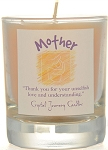 Mother Soy Filled Glass Votive Candle