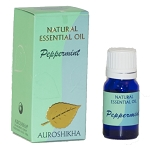 Peppermint Auroshikha Natural Essential Oil - 10 ml - 1/3 fl. oz. (Each)