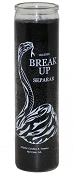 Break Up Snake 7 Day Candle, Black