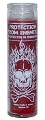 Protection From Enemies 7 Day Candle, Red