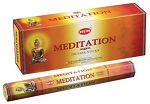 Meditation Incense Sticks, Hex Pack - 6 Boxes of 20 Sticks (120 Sticks)
