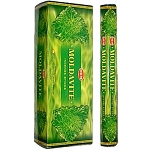 Moldavite Incense Sticks, Hex Pack - 6 Boxes of 20 Sticks (120 Sticks)