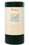 Peace 3 x 6 Herbal Magic Pillar Candle