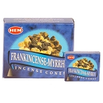 Frankincense & Myrrh Incense Cones, HEM, Box/12