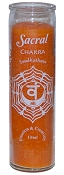 Sacral Chakra 7 Day Candle