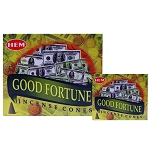 Good Fortune Incense Cones, HEM, Box/12