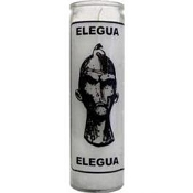 Elegua 7 Day Candle, White