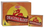 Dragons Blood Incense Cones, HEM, Box/12