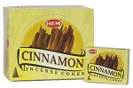 Cinnamon Incense Cones, HEM, Box/12