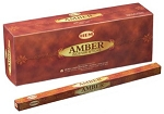 Amber Incense Sticks, Sq. Pk - 25 Boxes of 8 Sticks (200 Sticks)