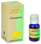 Lemongrass Auroshikha Natural Essential Oil - 10 ml - 1/3 fl. oz. (Each)