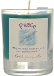 Peace Soy Filled Glass Votive Candle