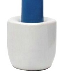 Chime Candle Holder - White Porcelain, Each