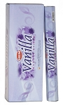 Vanilla Incense Sticks, Hex Pack - 6 Boxes of 20 Sticks (120 Sticks)