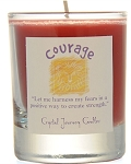 Courage Soy Filled Votive Glass Candle