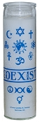 Coexist 7 Day Candle, White