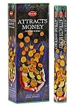 Attracts Money Incense Sticks, Hex Pack - 6 Boxes of 20 Sticks (120 Sticks)