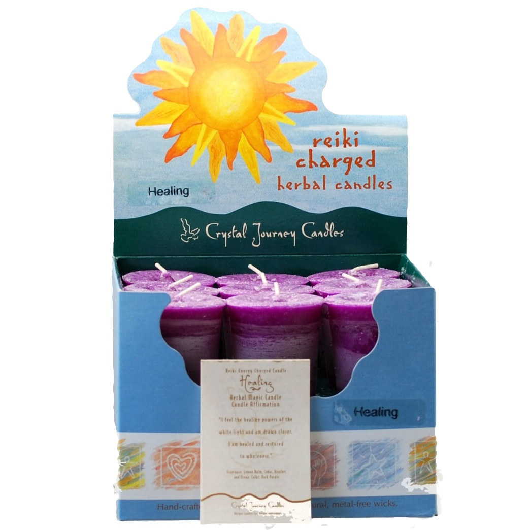 Healing Herbal Votive Candles Box 18
