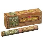 Egyptian Musk Incense Sticks, Hex Pack - 6 Boxes of 20 Sticks (120 Sticks)