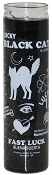 Black Cat 7 Day Candle, Black
