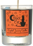 Black Cat Soy Filled Glass Votive Candle