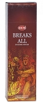 Break All Incense Sticks, Sq. Pk - 25 Boxes of 8 Sticks (200 Sticks)