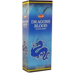 Dragon's Blood Blue Incense Sticks, Hex Pack - 6 Boxes of 20 Sticks (120 Sticks)
