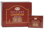 Precious Chandan Incense Cones, HEM, Box/12