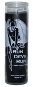 Run Devil Run 7 Day Candle, Black