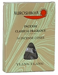 Auroshikha Marble Incense Cones, Ylang Ylang, 10 Packs of 14 Cones
