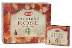 Precious Rose Incense Cones, HEM, Box/12
