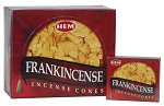 Frankincense Incense Cones, HEM, Box/12