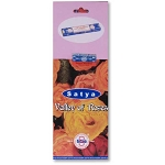 Valley of Roses Incense Sticks 10gm Square Pack, Satya, Box of 25